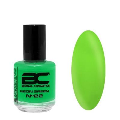 BC Stamping Lac Nº 22 - Neon Green