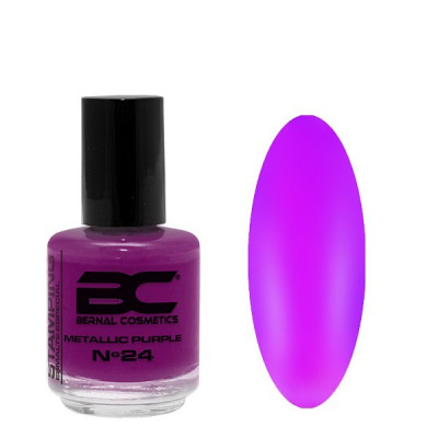 BC Stamping Lac Nº 24 - Metallic Purple