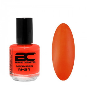 BC Stamping Lac Nº 21 - Neon Red