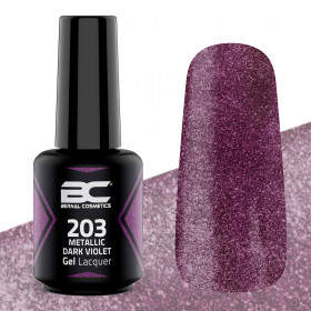 BC Gel Lacquer Nº203 - Metallic Dark Violet - 15ml