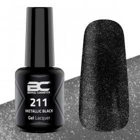 BC Gel Lacquer Nº211 - Metallic Black - 15ml